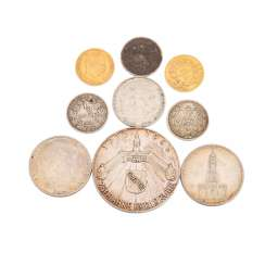 Small collection of coins with Gold, consisting of