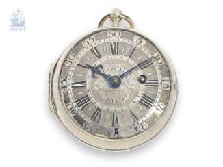 Pocket watch: extremely rare French Oignon, made in the English style, master watchmaker, Pascal Hubert à Rouen, circa 1695