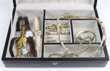 Fashion jewelry in the case