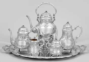 Large coffee and tea service