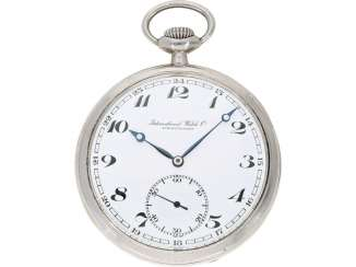 Pocket watch: silver Lepine of the brand IWC, from the year 1928, with the master excerpt from the book