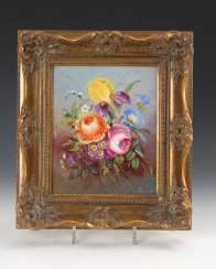 Porcelain Painting: Bouquet Of Flowers.