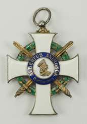 Saxony: Albrechtsorder, 2. Model (1876-1918), Knights Cross 1. Class with swords.