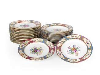 A Set of Twelve Dinner Plates from the Grand Duke Mikhail Pavlovich Service
