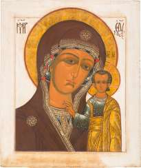 A MONUMENTAL ICON WITH THE MOTHER OF GOD OF KAZAN (KAZANSKAYA)