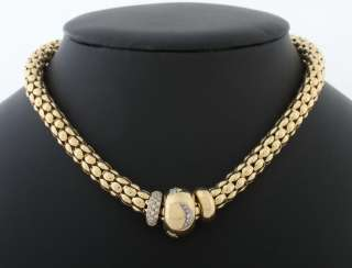 Gold chain with diamond pendants 1980s