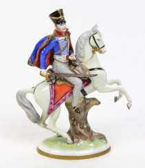 A Prussian hussar on horseback
