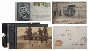 Small postcard collection with approx. 10 handwritten letters from around 1900