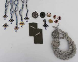 CONV. 7 Mother's Crosses, Wound Badges 2. World war, SA sports badge, Marksmanship and much more.