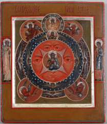 Icon of the all-Seeing eye 19th century