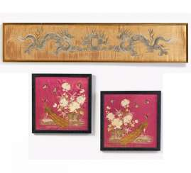 Three silk embroidery