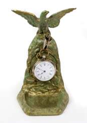 Key pocket watch with stand