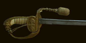 The marine officer's sword in sheath