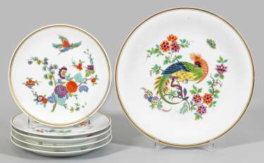 Six decorative plates with kakiemon decor