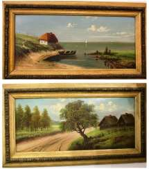 "Pair of paintings ""eh! Way!"" Dukeman. Russia, XIX - n. XX centuries."