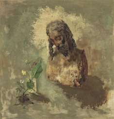 Kriegel, Willy. Still-life with Christ bust and meadow flowers