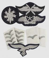 2 Pair of collar tabs, a breast eagle