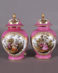 A pair of Dresden vases, 1860s-1880s years, China