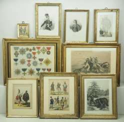 Russia: Collection of Engravings. Military and civil