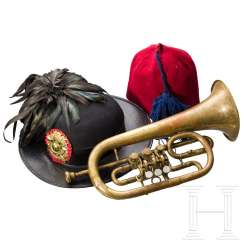 Hat for Bersaglieri, Trumpet and Fez, 1st half of the 20th century