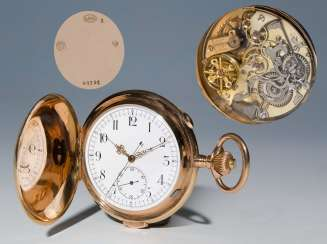 Swiss Gold-cased watch with chime, and Chronograph.