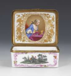Anatomical snuffbox with Watteau painting and portrait of a lady, MEISSEN