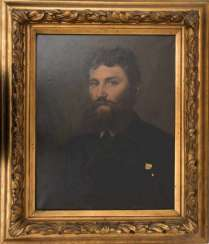 L. WEIGEL, BEARDED YOUNG MAN, Oil on canvas, framed, signed, dated.