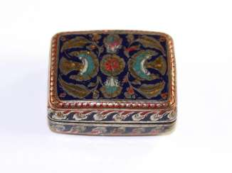 Oriental box with moonstone cabochons.