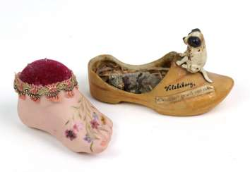 Porcelain souvenir Shoe, among other things,