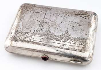 Cigarette case with Peter and Paul fortress