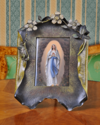Vienna, the end of XIX century porcelain, painting; frame - bronze