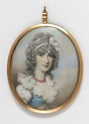 France, late 18th century, portrait of a young lady