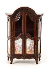 Vienna Miniature display case with enamel painting.