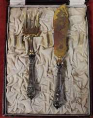 Cutlery set for fish, St. Paul. XX century.