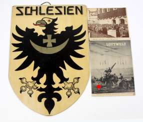 Shield Silesia coat-of-arms & 2 folders