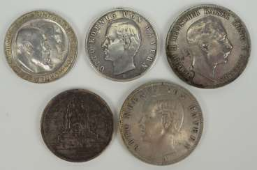 Lot of coins German Empire - 5 copies.