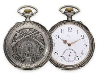 Pocket watch: rare, very early Longines rifle watch with extensive accessories, Winterthur 1895