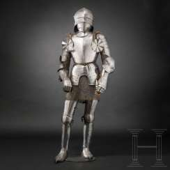 Gothic field armor, southern German, partly Innsbruck, around 1480 - 1500