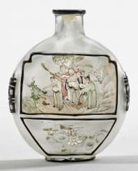 Glass Snuffbottle with a fine inside painting