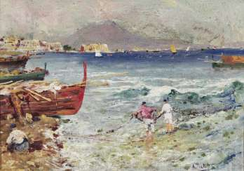 Fishermen off the coast of Naples