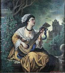 Austrian Artist 2. Half of the 19th century, portrait of a musical lady