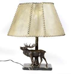 Table lamp with deer