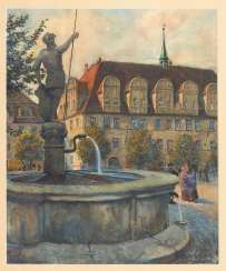 AMANN, Fritz: the Rathaus of Naumburg with Wenz