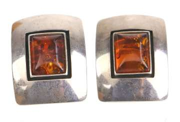 Amber Clip-On Earrings