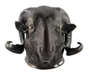 RAM's head Bronze around 1900.