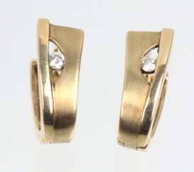 Gold earrings - yellow gold 333