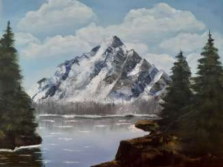 """MOUNTAIN AND LAKE"". SALES."
