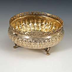 Round Silver Bowl.