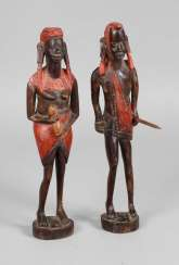 Two figural carvings