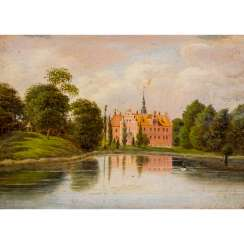 "RADEMACHER, NIELS G. (1812-1885) ""Moated castle with park"""